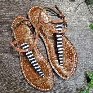 NWOT Sam Edelman Gigi Striped Thong Sandal